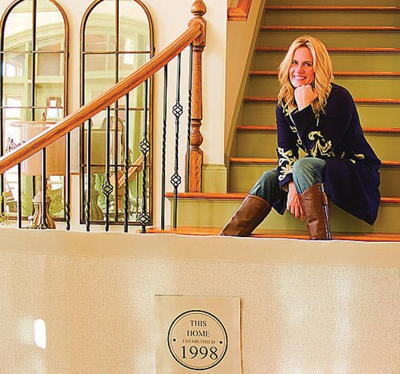 Former Fenton native Janelle Fitzpatrick is now a major inventor with The Stair Barrier.