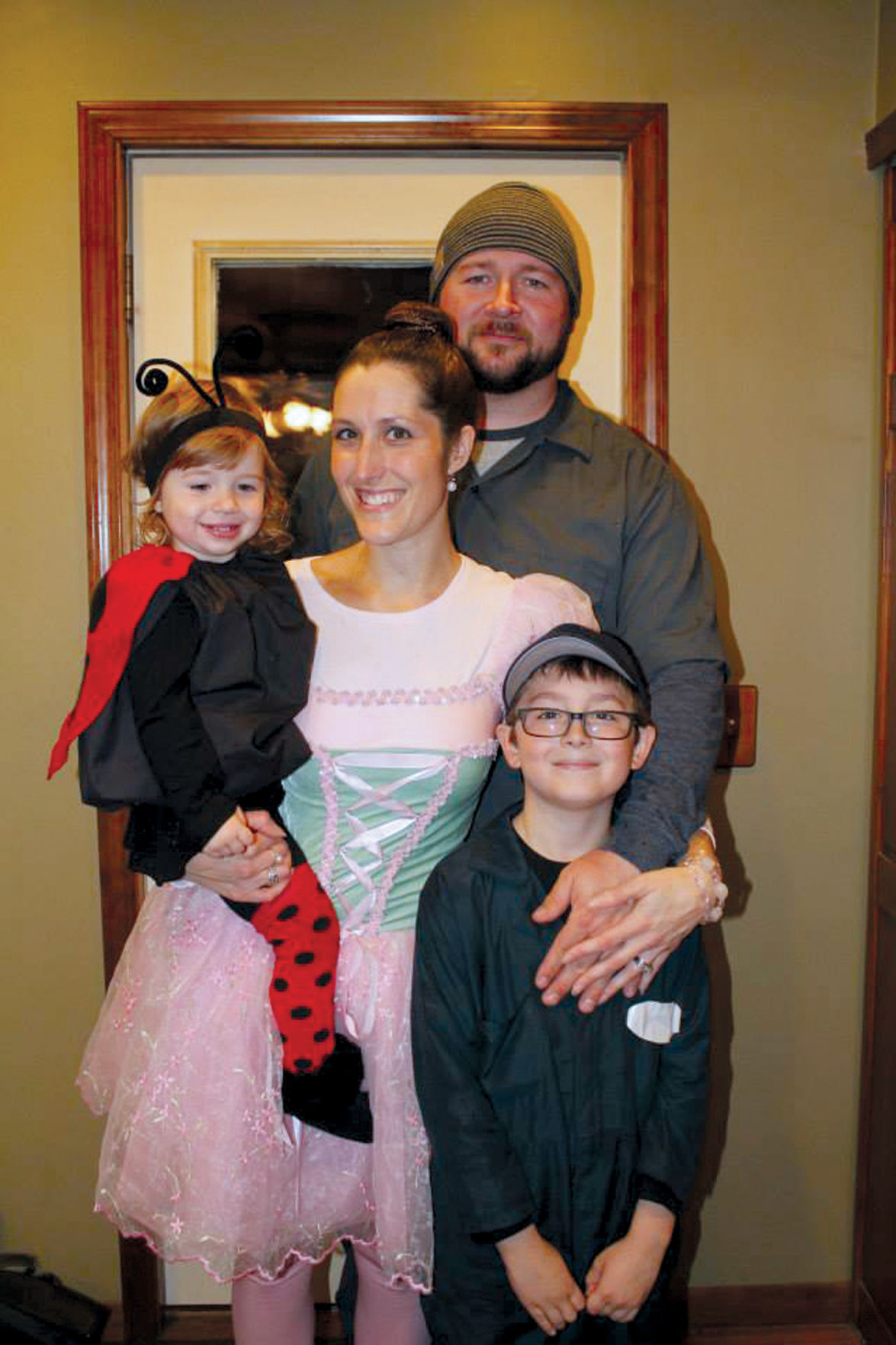 The White family, Shawn, Amy, Corey, and Ava, 2, celebrates Corey's birthday on Feb. 28 on non Leap Years.