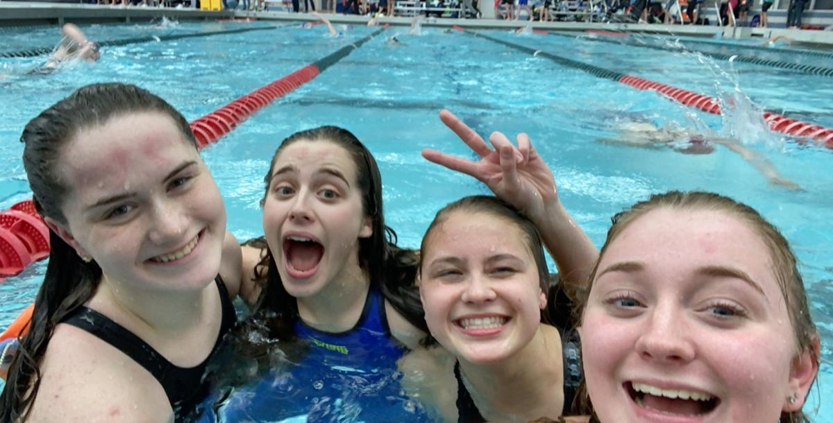 Flint Powers had its 200 freestyle relay compete during Saturday's second day of the Division 3 girls state meet.