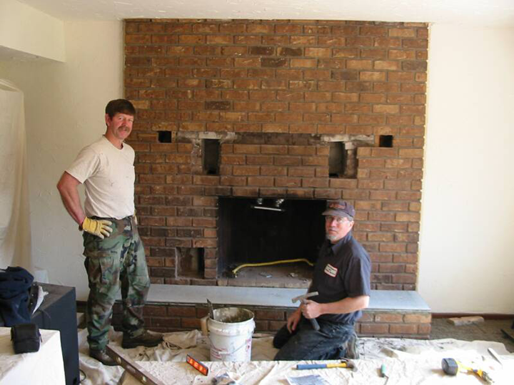 Stan Brunhuber (right) of Stan's Fireplace and Chimney Service ...