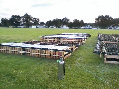 Fireworks mortar racks