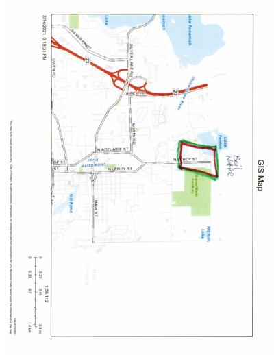 Area that was affected by water main break