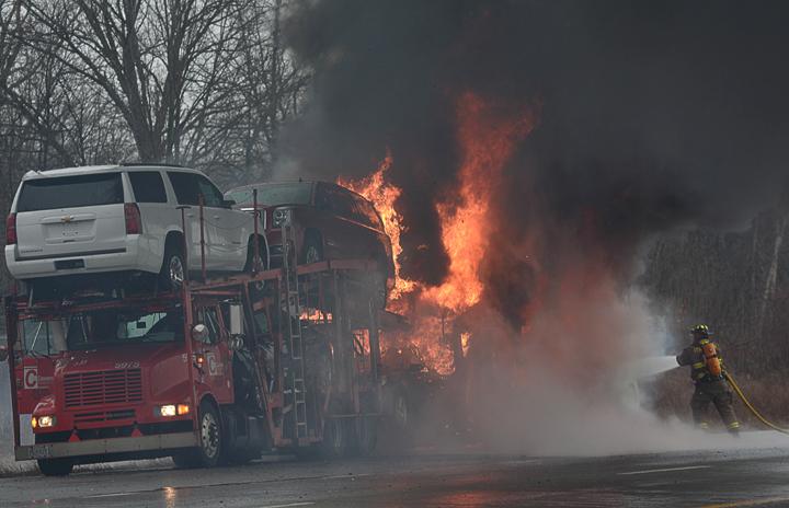 Car Hauler Jobs >> Car hauler fire | News for Fenton, Linden, Holly MI | tctimes.com