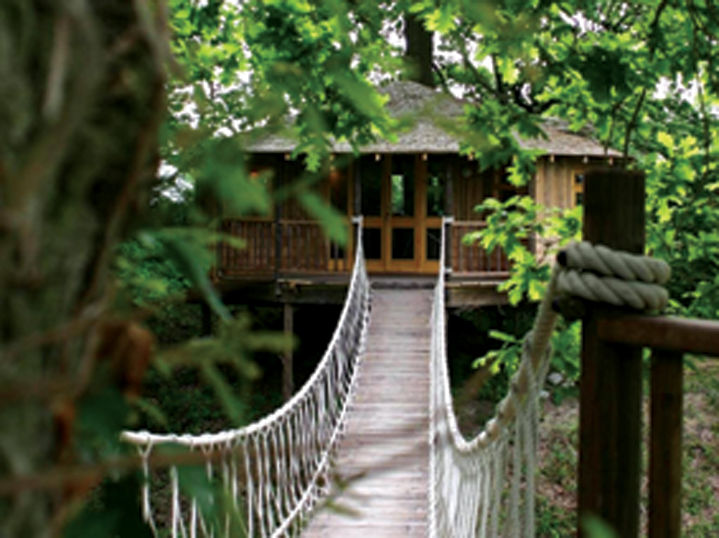 This tree house structure is an example of what Bella Solviva would like to build as part of their resort camping experience.