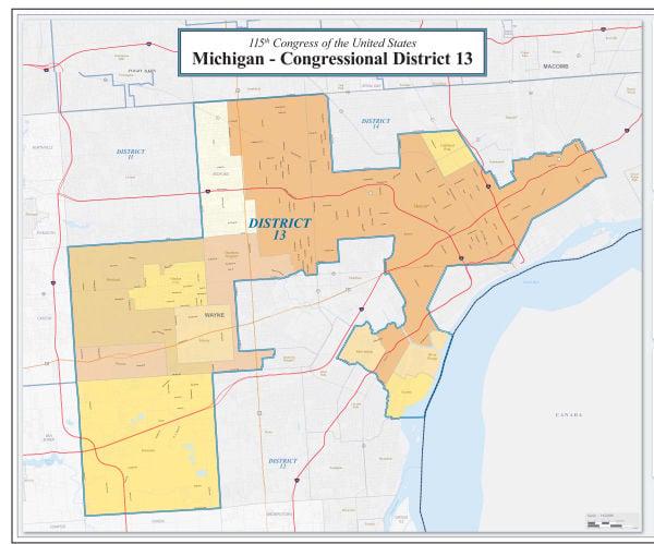 Michigan 13 district gerrymandering