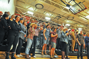One of the themes this year for the Fenton student section ...
