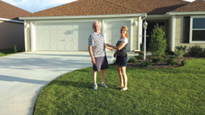 Les and Kim Beare were excited to sign the purchase agreement for their ranch-style home in The Villages in Florida in September 2014.