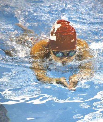 Margaret Cylkowski competes at a recent meet. The Bronchos defeated the Swartz Creek/Flushing co-op.