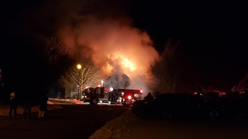 House fire on Cottage Court 2