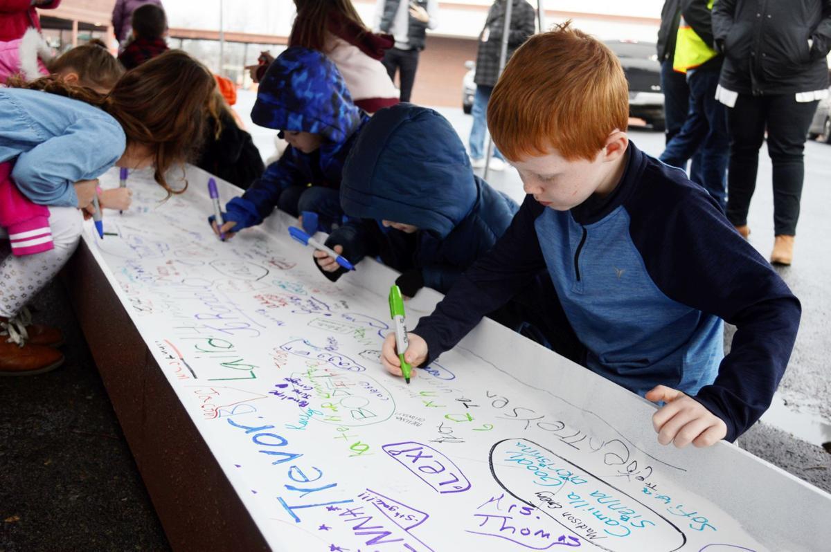 Kalama elementary beam signing
