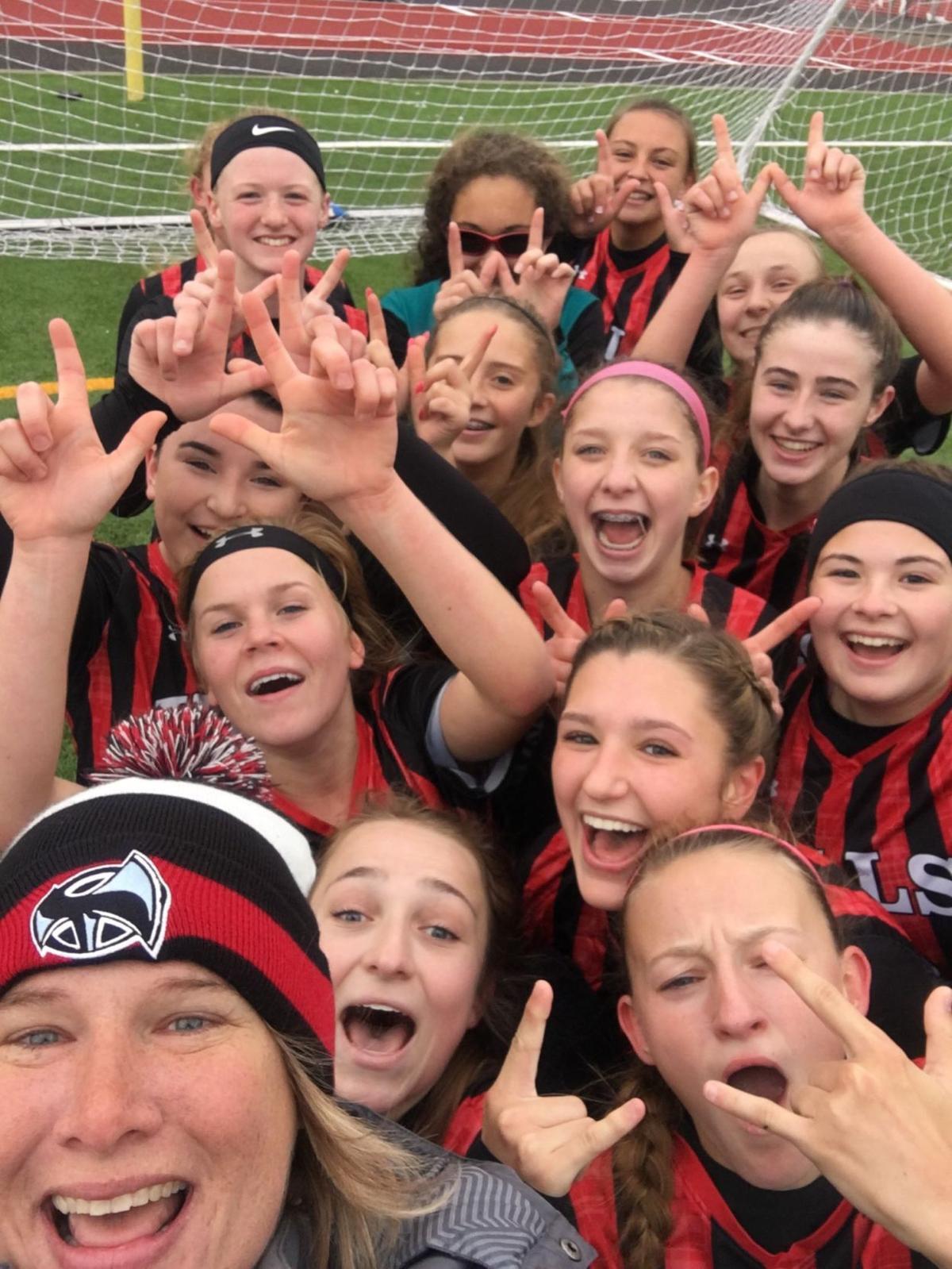 RAL Girls Soccer Selfie Nov 4 2017
