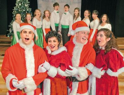 The Cast Of White Christmas.Cast Brings Holiday Magic To Kelso Shopping Center