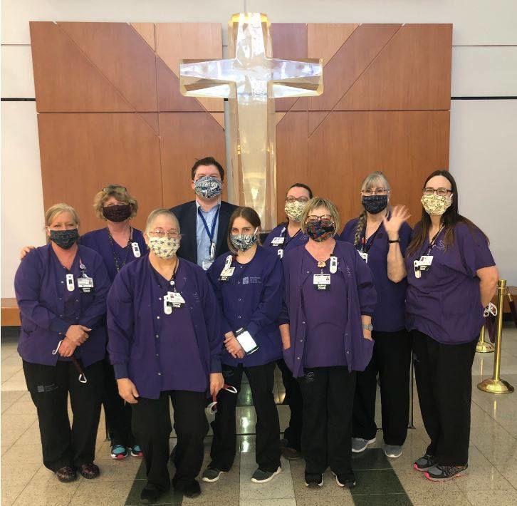 Handmade face masks for St. John staff