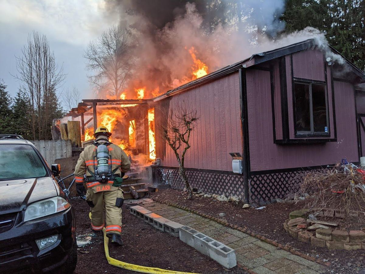 Morning structure fire