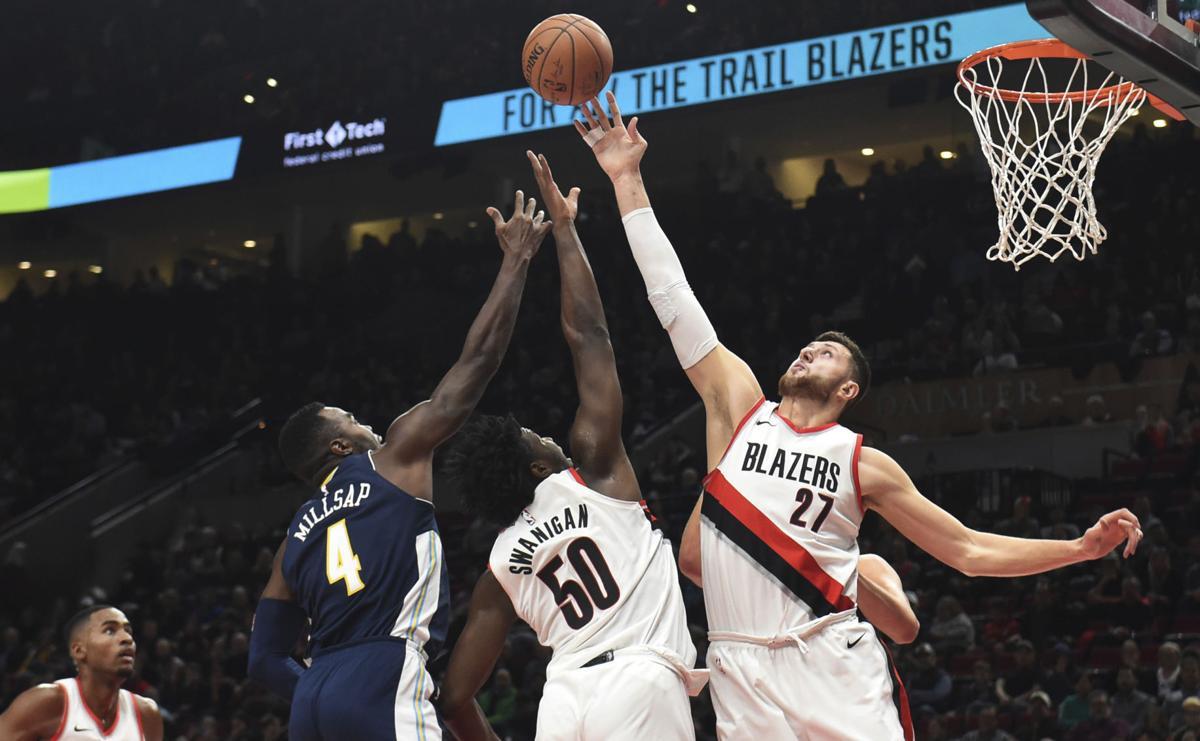 Nuggets Trail Blazers Basketball