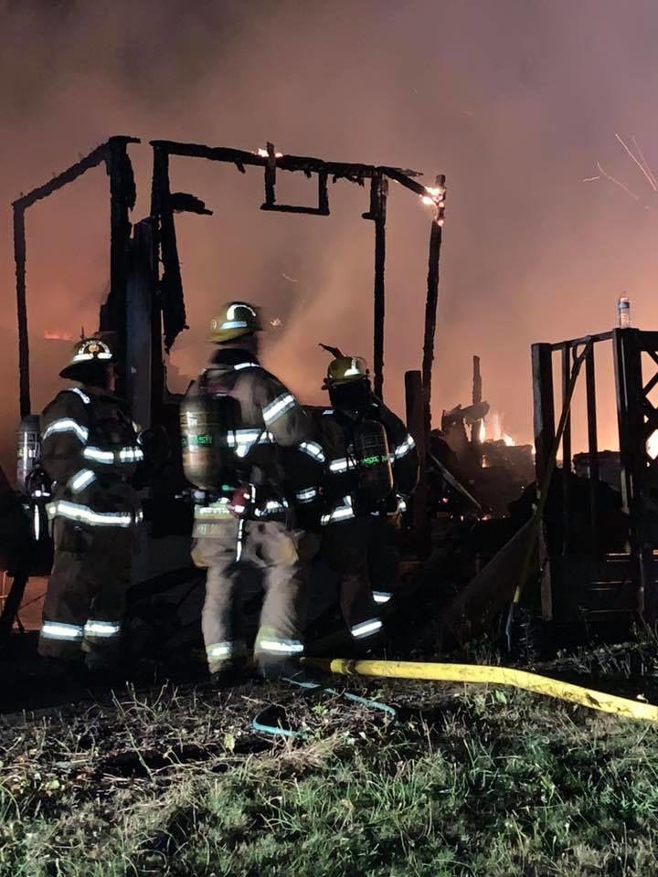 Rainier residential fire