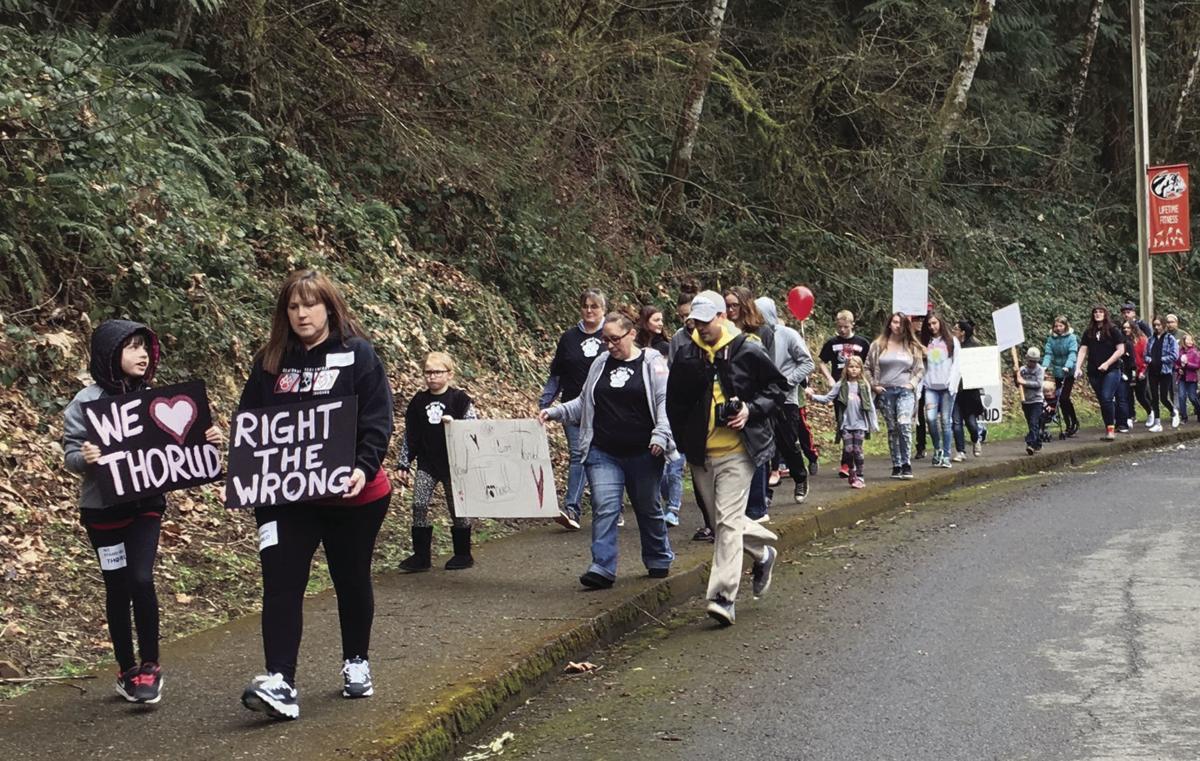 Clatskanie student protest