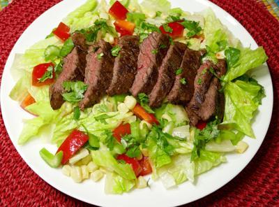 Jerk Steak Salad.