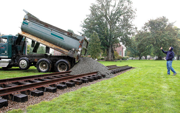 Shay locomotive tracks