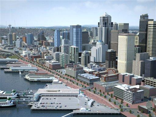 Gregoire announces tunnel option for Alaskan Way viaduct