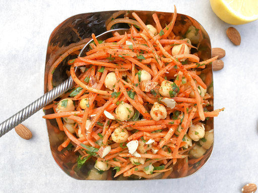 Carrots and harissa