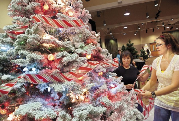 Unique christmas trees up for bid at charity event lifestyles