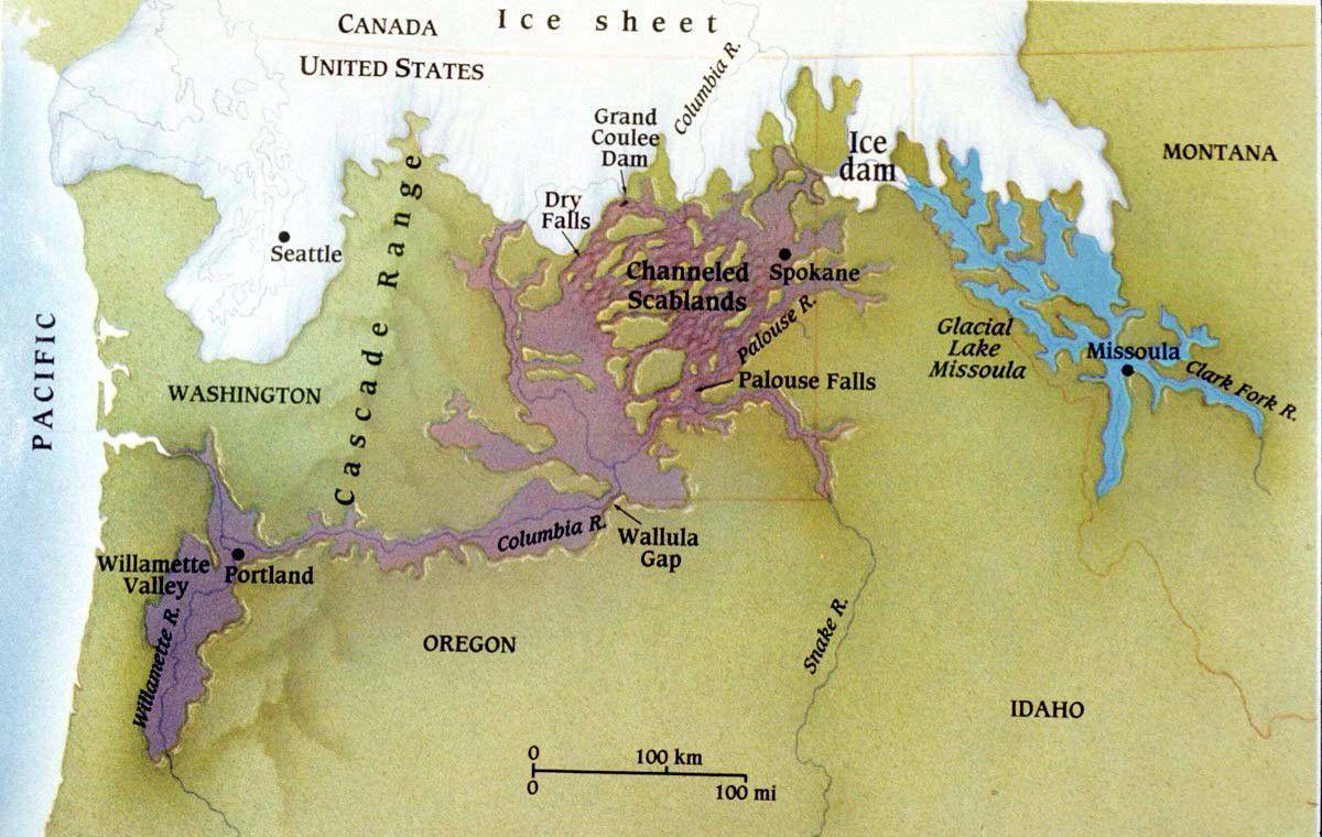 Missoula Floods map