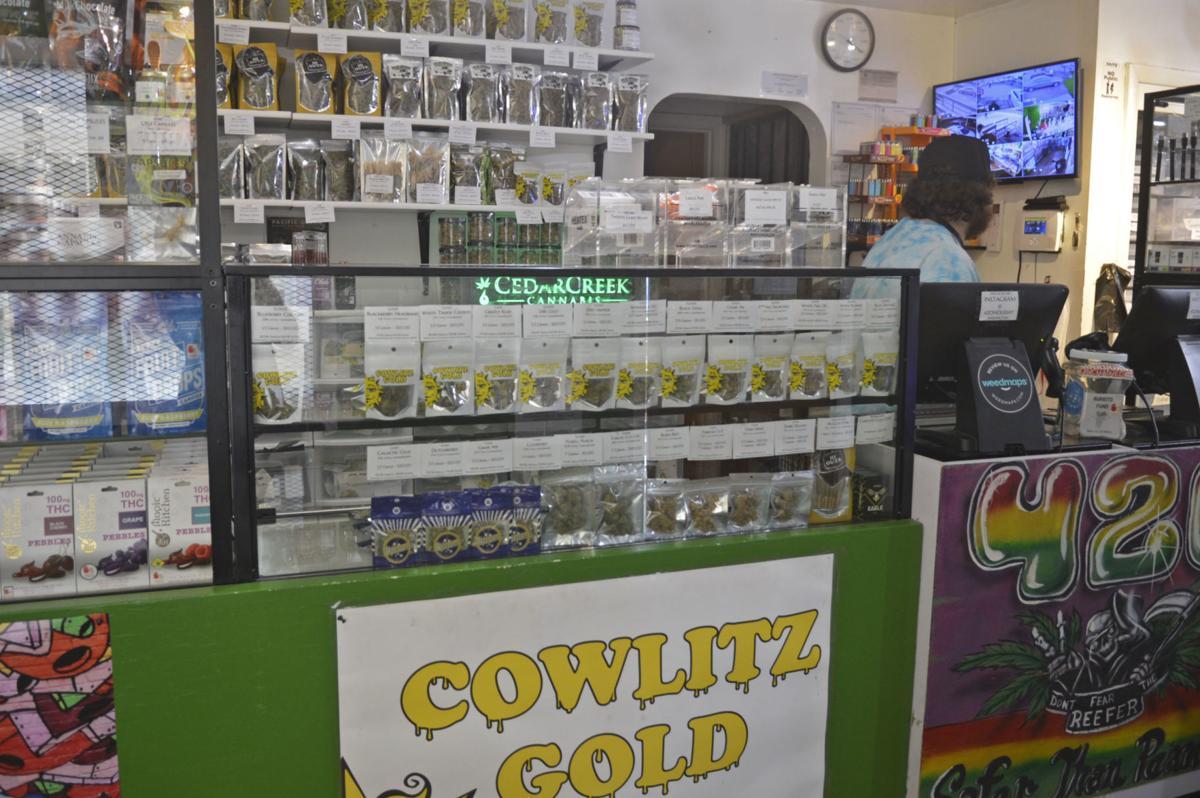 Marijuana sales in Cowlitz County