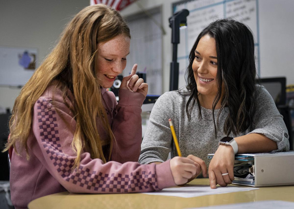 Sierra Wishard solves a math equation