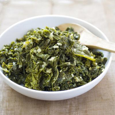 Making tender kale