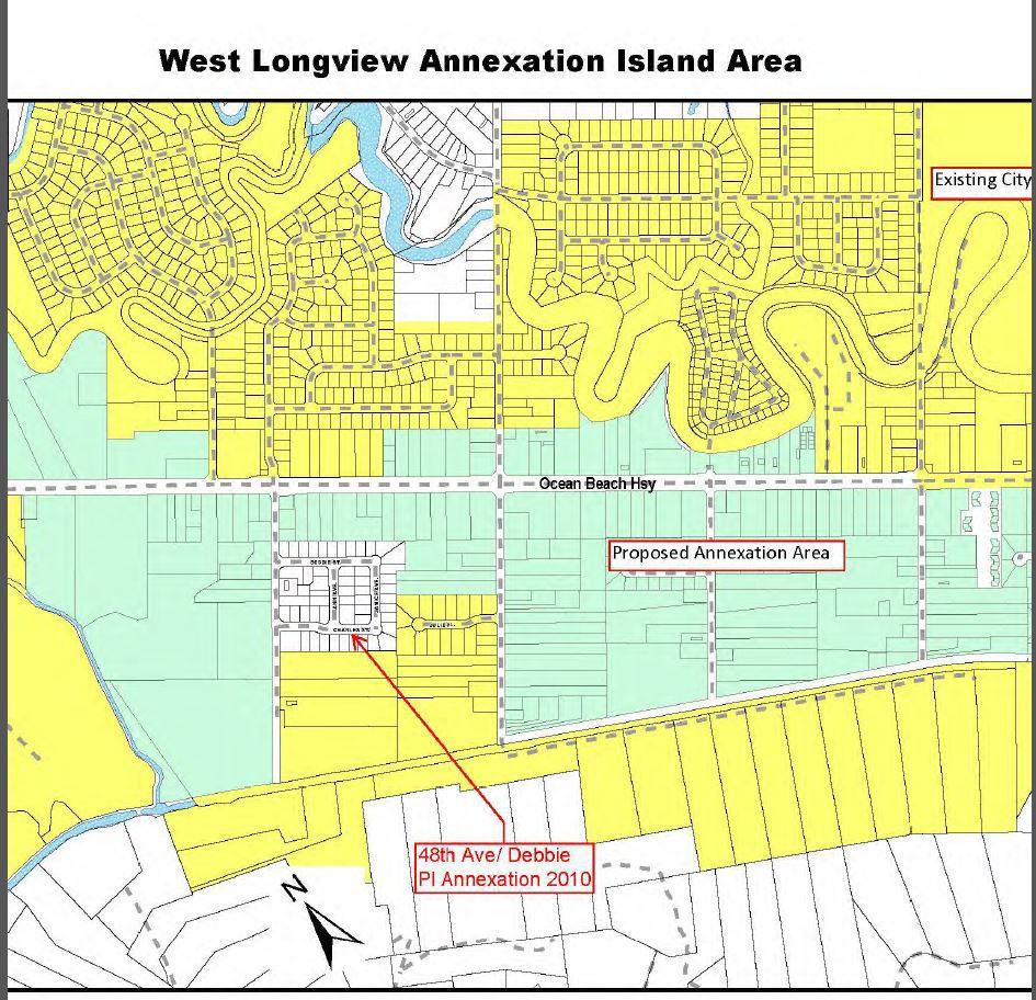 West Longview annexation map