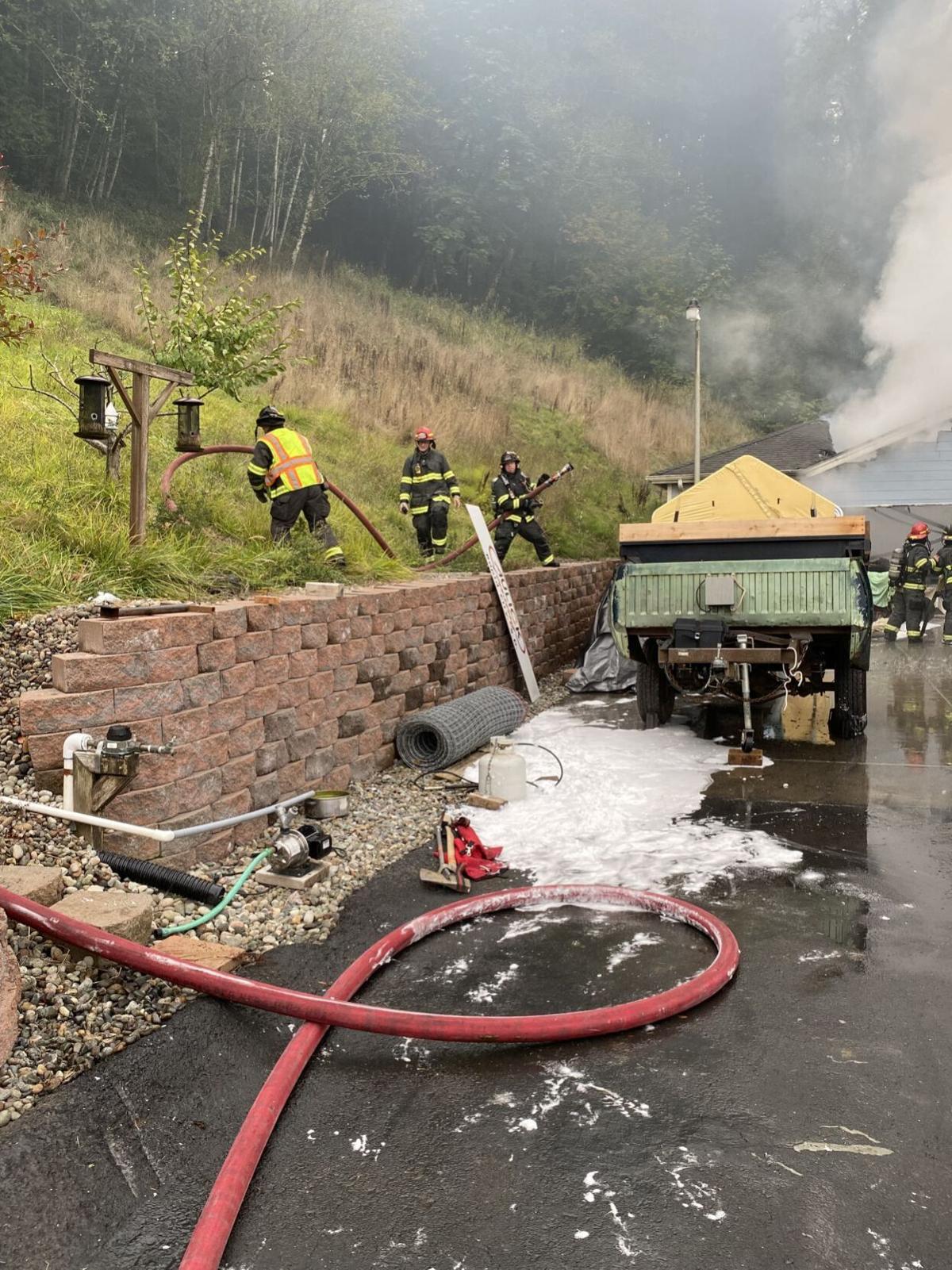Coal stream fire