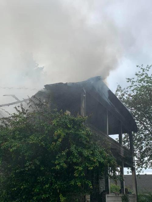 Sunday fire in Rainier
