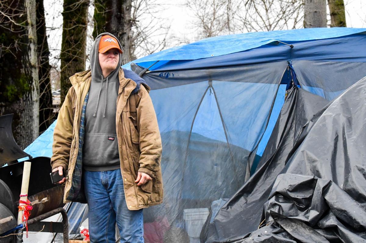 Danny Borders' tent