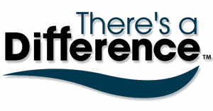 Theres a difference logo white.GIF