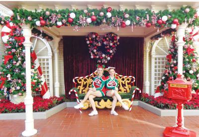 Wicken Christmas.Mark Morris Cheerleaders Appear In Disney Parade