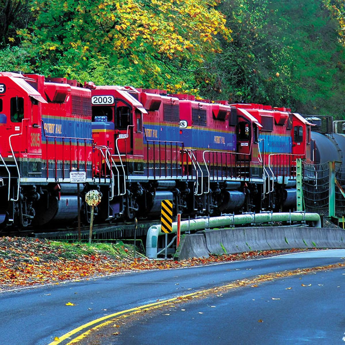 It's the end of the line for Weyerhaeuser Woods Railroad