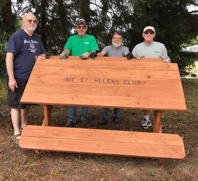 Hiking club table