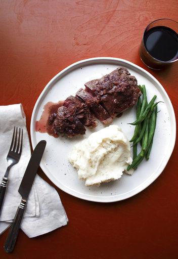 Strip steak Diane
