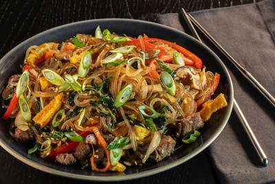 How to make japchae, the classic Korean noodle and vegetable dish