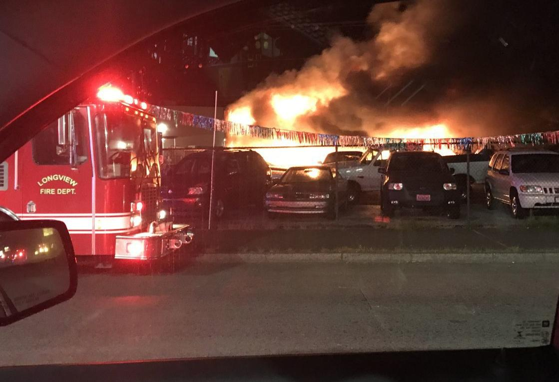 Triangle Motors Fire