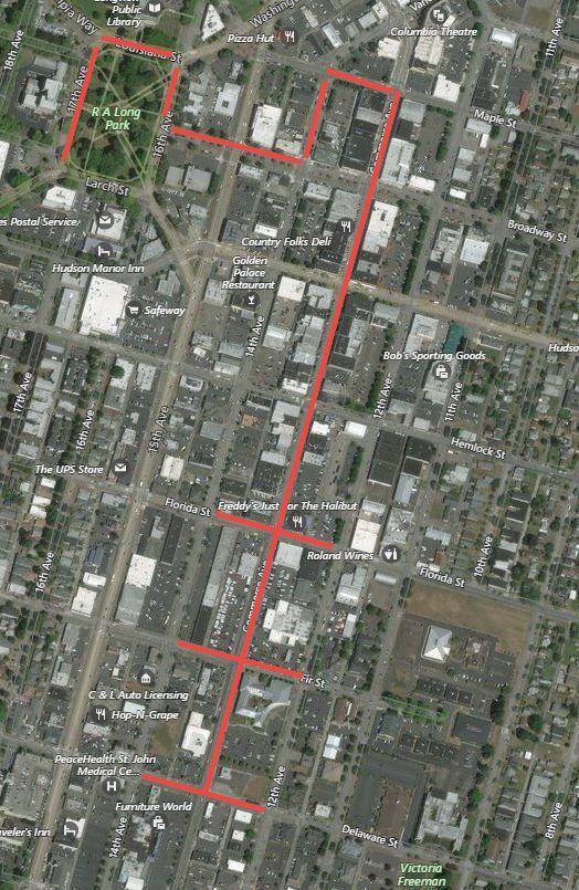 2018 Longview parade route