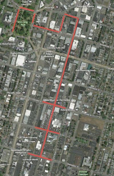 Longview parade route