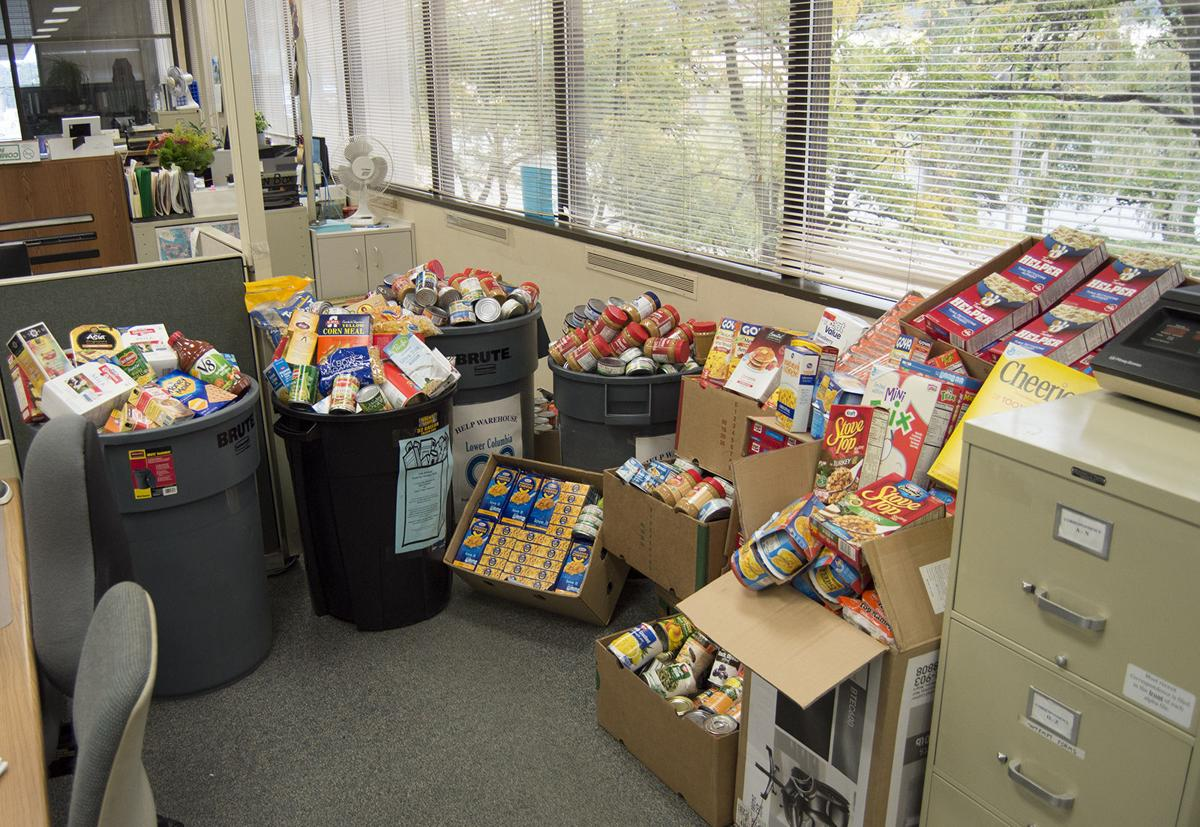 Cowlitz District Court tops Superior Court in food drive