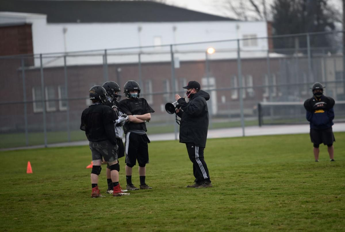 Coach Barker and the kids