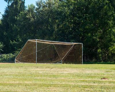 Soccer net empty