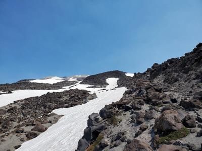 Mount St. Helens snow melt
