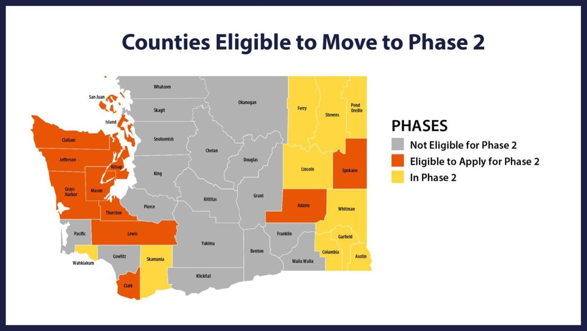 Counties eligible to apply to move to Phase 2