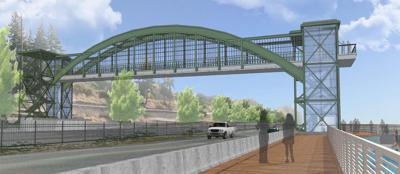 Proposed Kalama pedestrian overpass rendering
