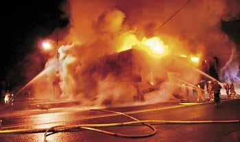 Ilwaco fire station goes up in flames
